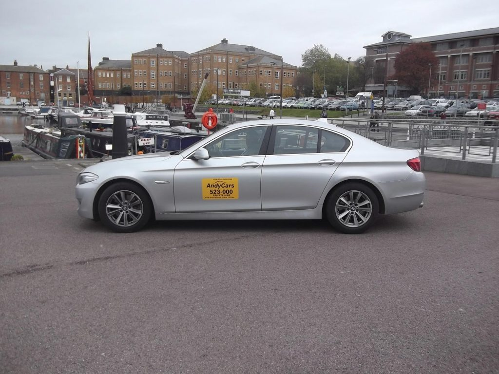 Andy Cars Taxis at Gloucester Quays