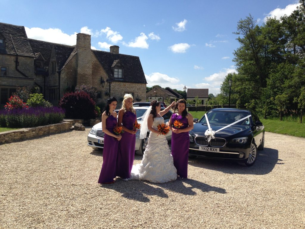 Andy Cars Taxi with Bridesmaids