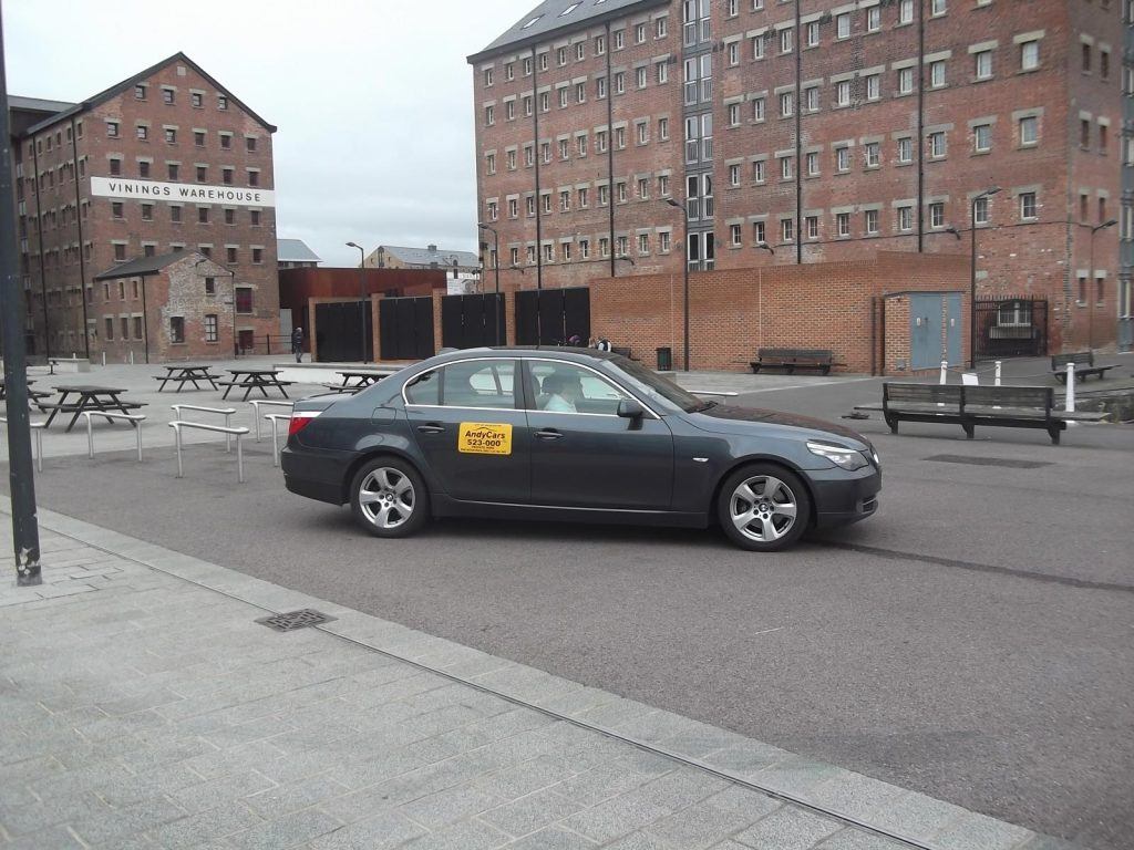 Andy Cars Taxis at Gloucester Docks